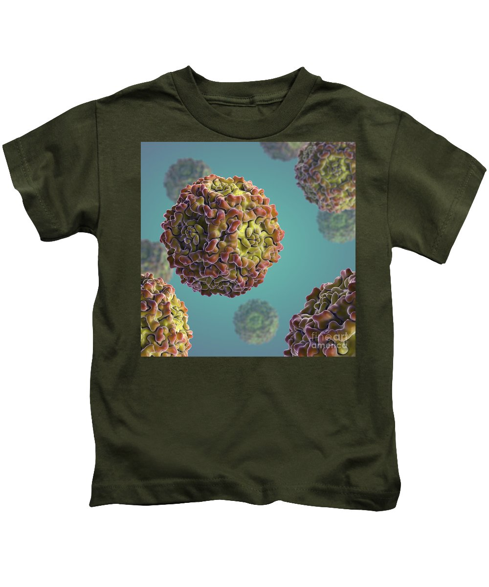 Digitally Generated Image Kids T-Shirt featuring the photograph Parvovirus B19 by Science Picture Co