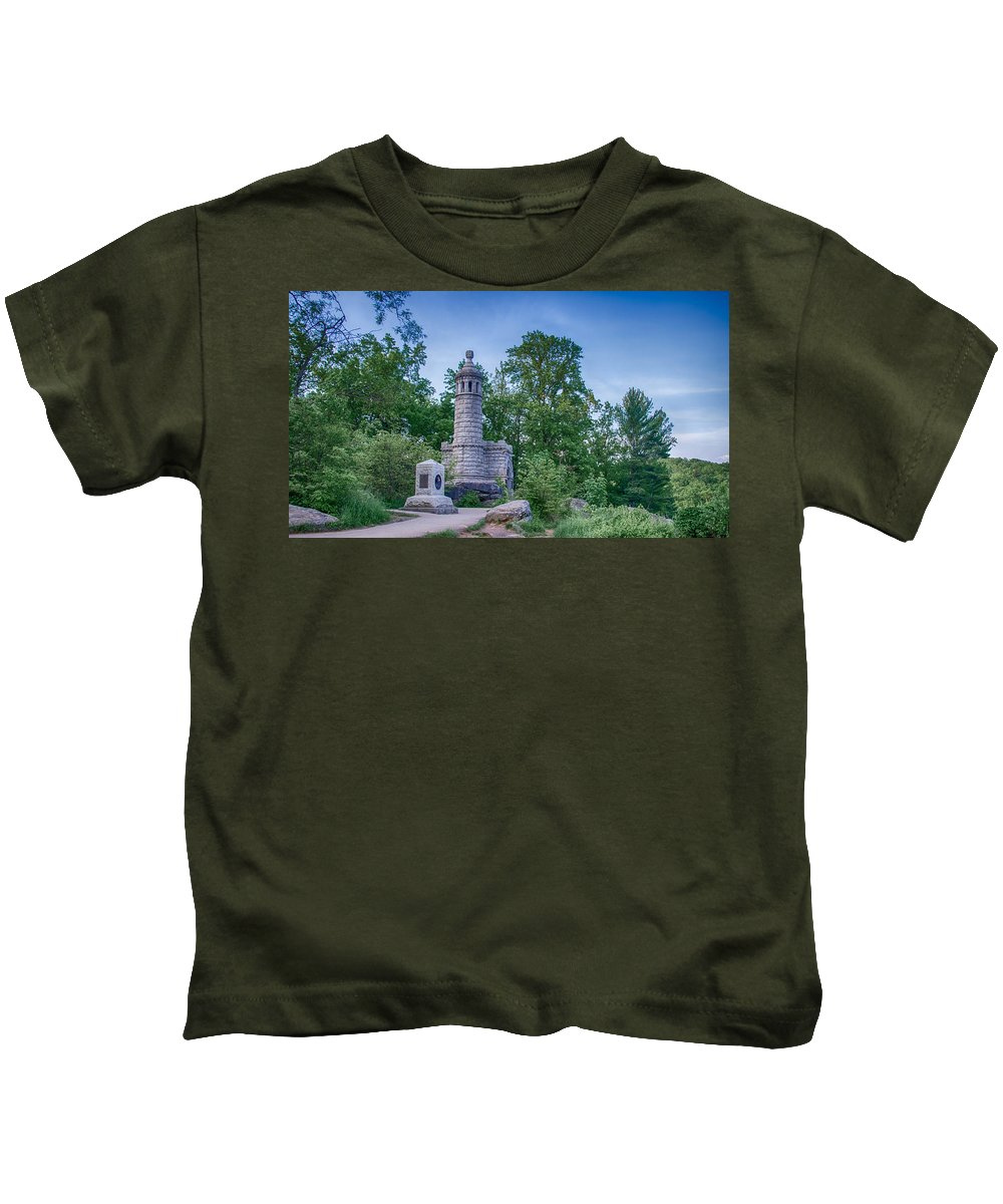 American Civil War Kids T-Shirt featuring the photograph 44th New York 7d02380c by Guy Whiteley