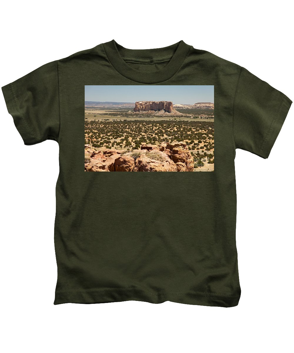 Acoma Kids T-Shirt featuring the photograph Sky City Acoma Pueblo by Fred Stearns