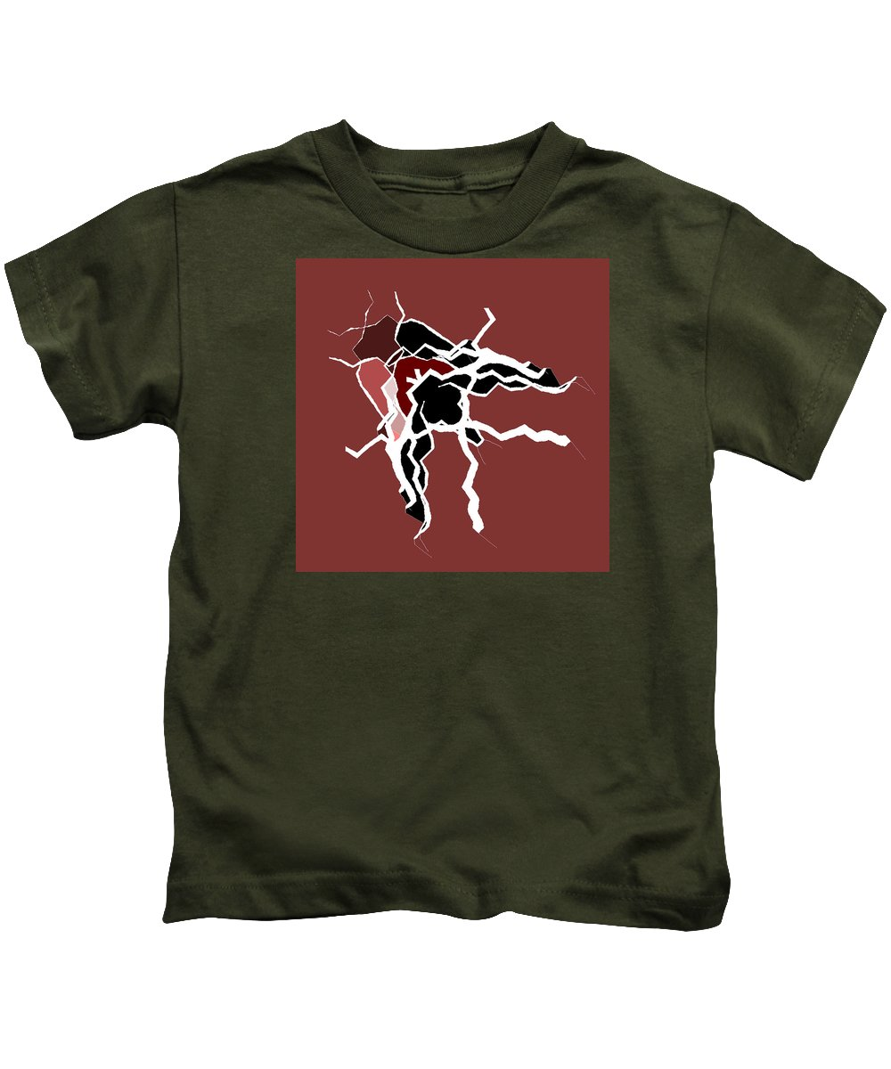 Abstract Kids T-Shirt featuring the digital art 5040.16.26 by Gareth Lewis
