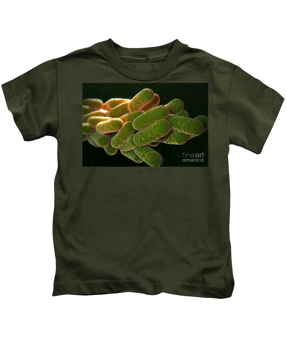 3d Visualization Kids T-Shirt featuring the photograph Legionella Pneumophila Bacteria by Science Picture Co