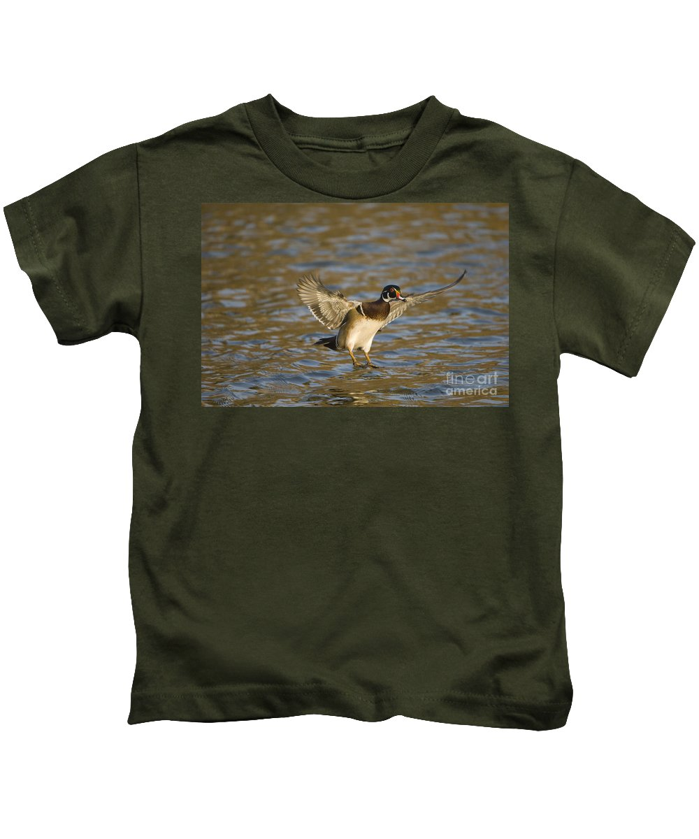 Nature Kids T-Shirt featuring the photograph Wood Duck by John Shaw