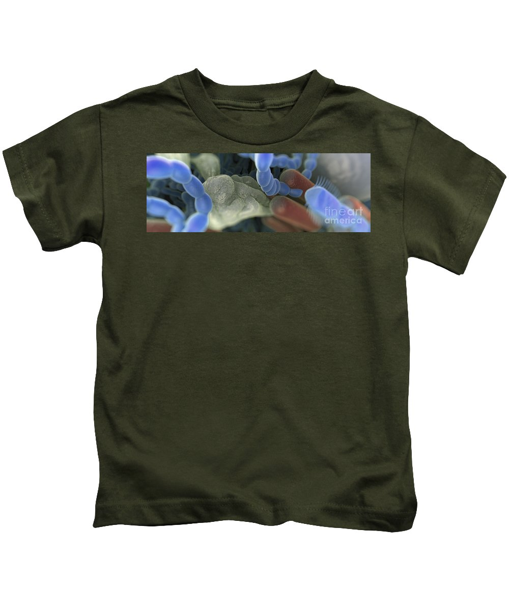 Digitally Generated Image Kids T-Shirt featuring the photograph Halitosis Bacteria by Science Picture Co