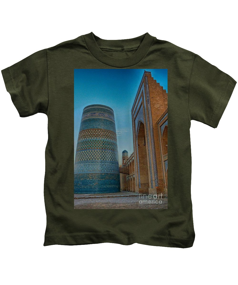 Kids T-Shirt featuring the photograph Chiva- Uzbekistan by Karla Weber