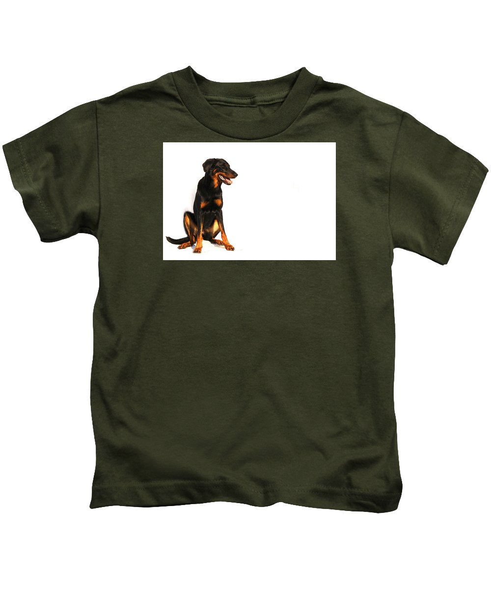 Dog Kids T-Shirt featuring the photograph Dog by FL collection