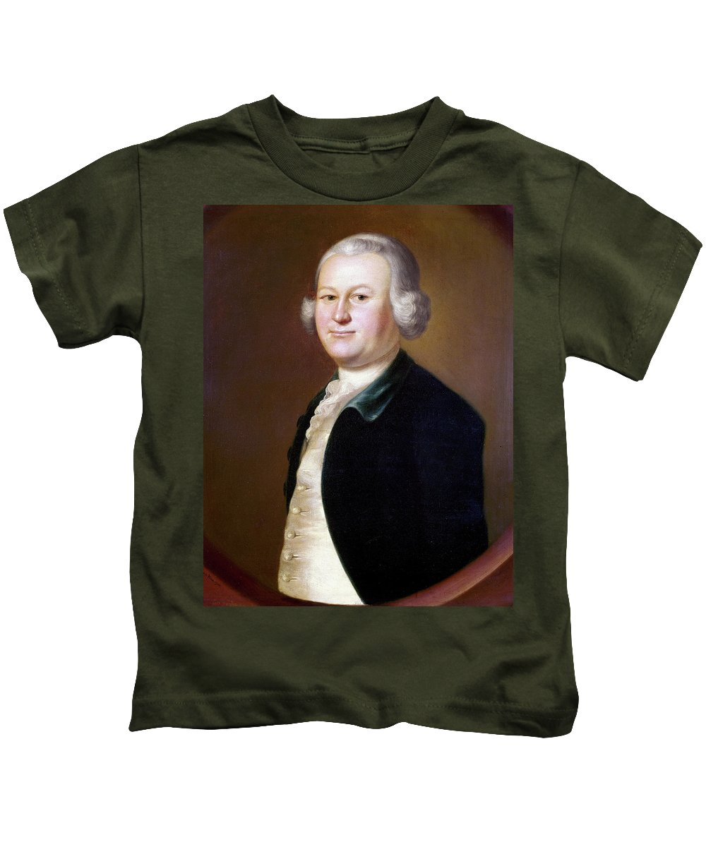 1755 Kids T-Shirt featuring the painting James Otis (1725-1783) by Granger