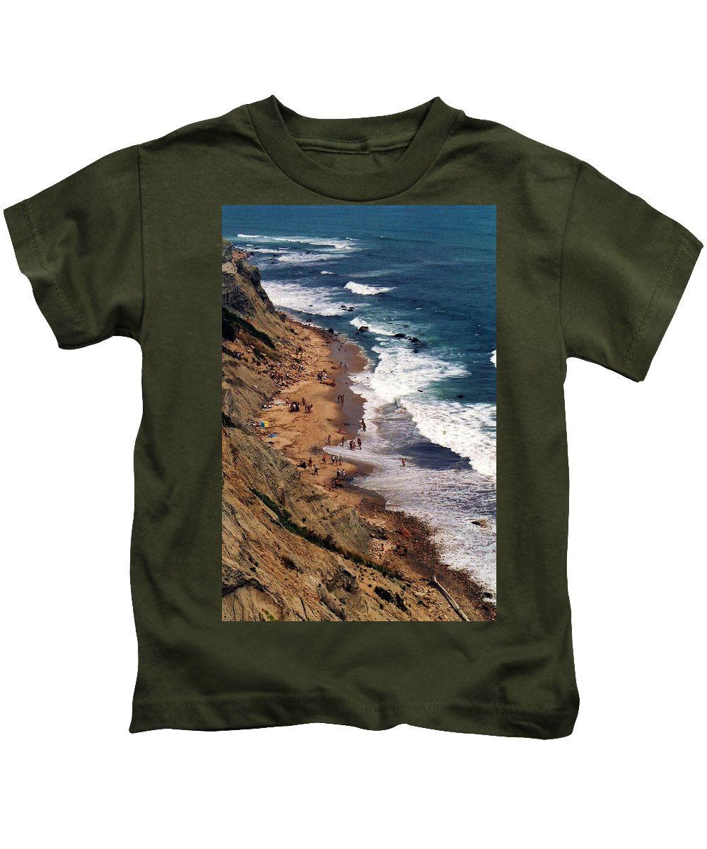 Landscapes Kids T-Shirt featuring the photograph Block Island by John Scates