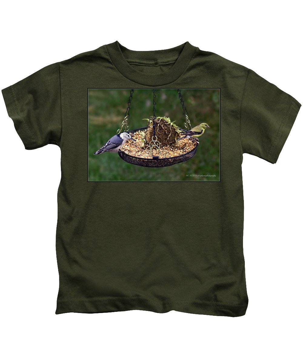 Coming And Going Kids T-Shirt featuring the photograph A Balanced Meal by Catherine Melvin