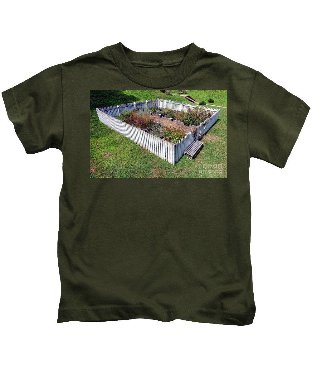 Colonial Kids T-Shirt featuring the photograph A Colonial Garden by Olivier Le Queinec
