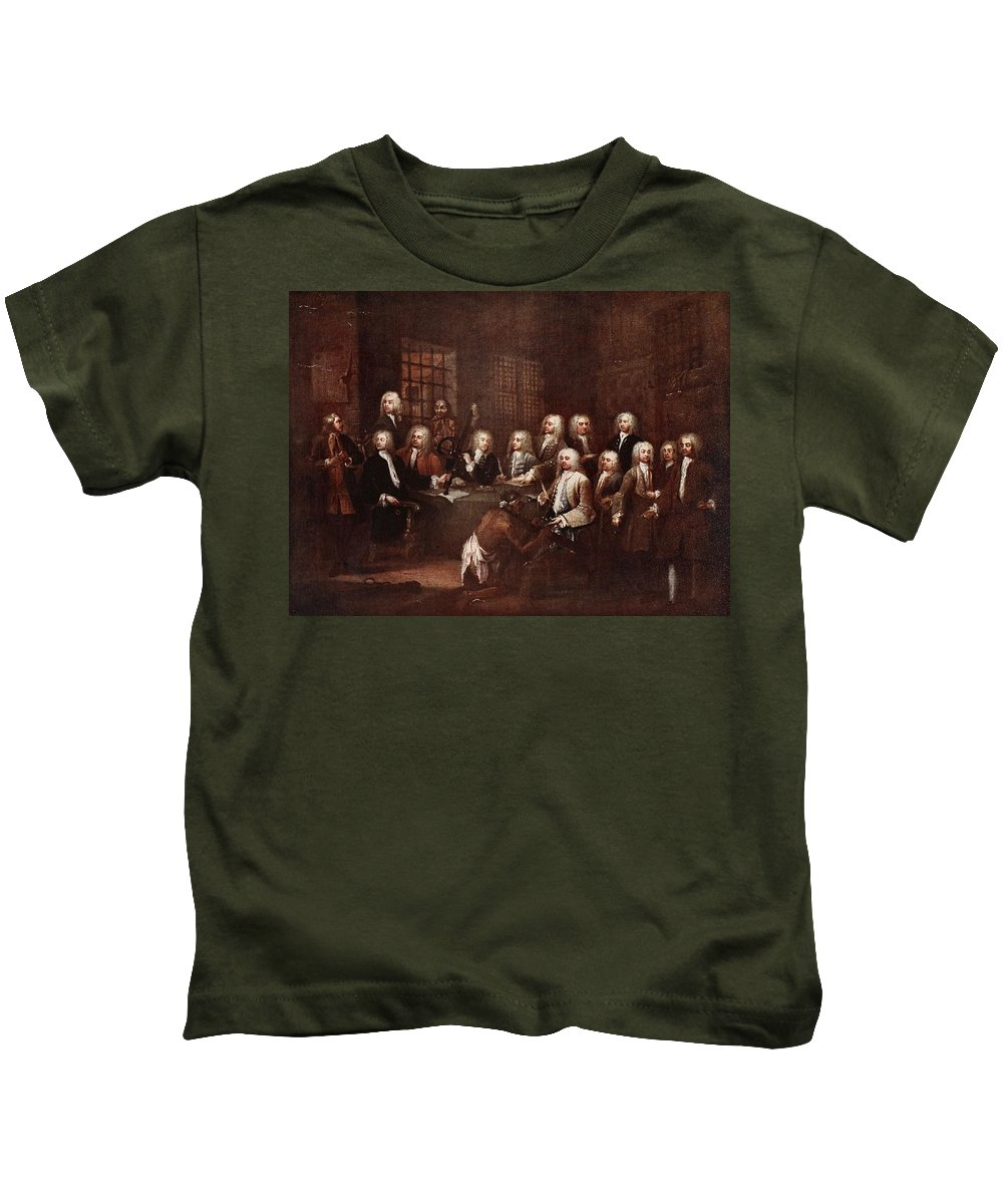 Notorious Kids T-Shirt featuring the drawing A Committee Of The House Of Commons by William Hogarth
