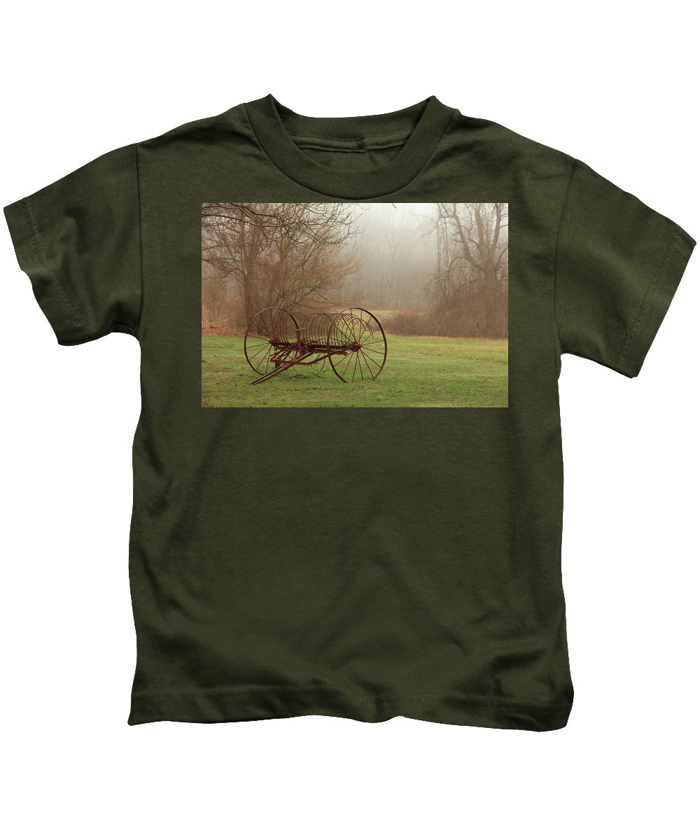 Country Kids T-Shirt featuring the photograph A Country Scene by Karol Livote