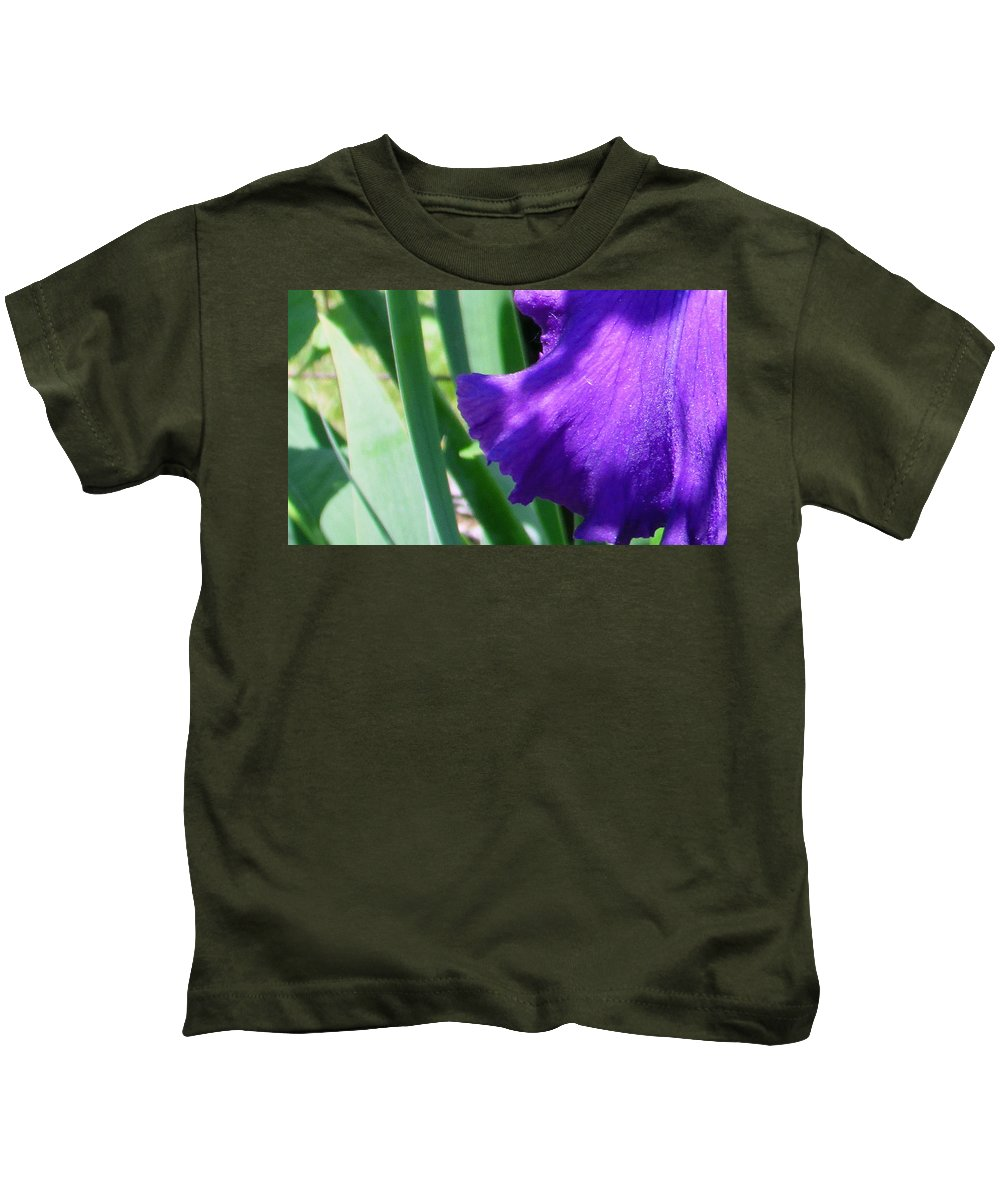 Purple Kids T-Shirt featuring the photograph A Dip Of Purple by Debi Singer