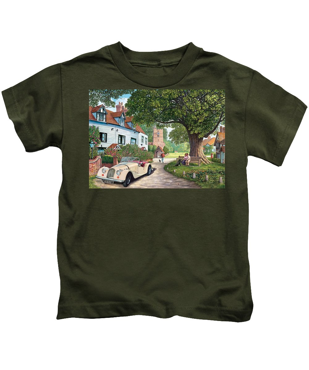 Countryside Kids T-Shirt featuring the photograph A Drive Out by Steve Crisp