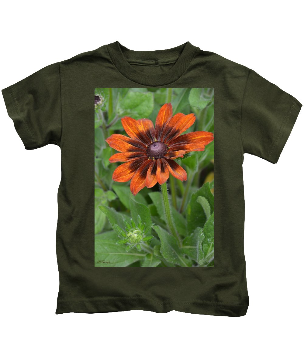Brown Flower Kids T-Shirt featuring the photograph A Flower Within A Flower by Patricia Twardzik