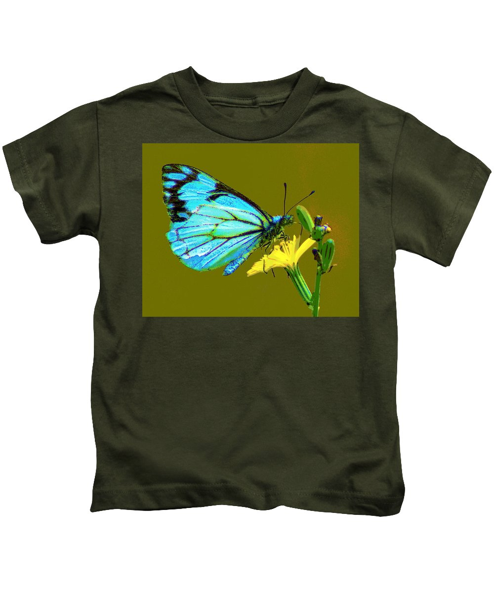 Butterfly Kids T-Shirt featuring the photograph A Moment In Time by Ben Upham III