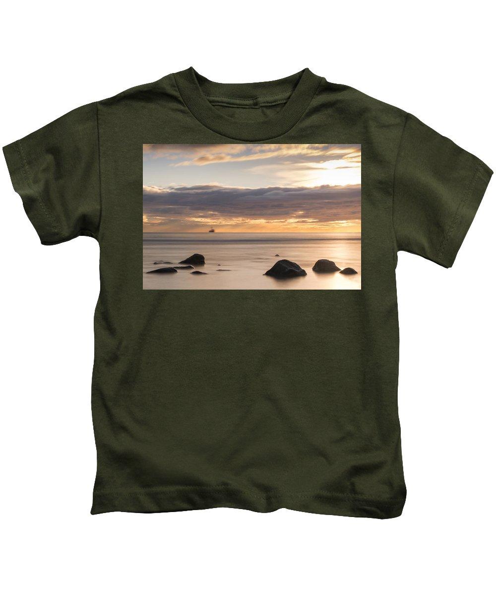 Peaceful Kids T-Shirt featuring the photograph A Peaceful Sunrise by Veli Bariskan