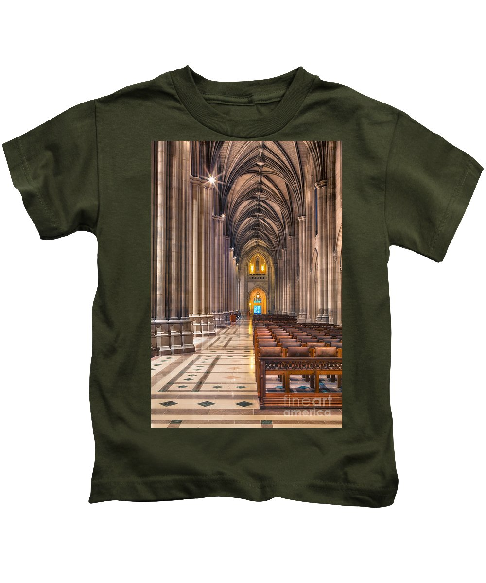 Arches Kids T-Shirt featuring the photograph A Place Of Worship by Jerry Fornarotto