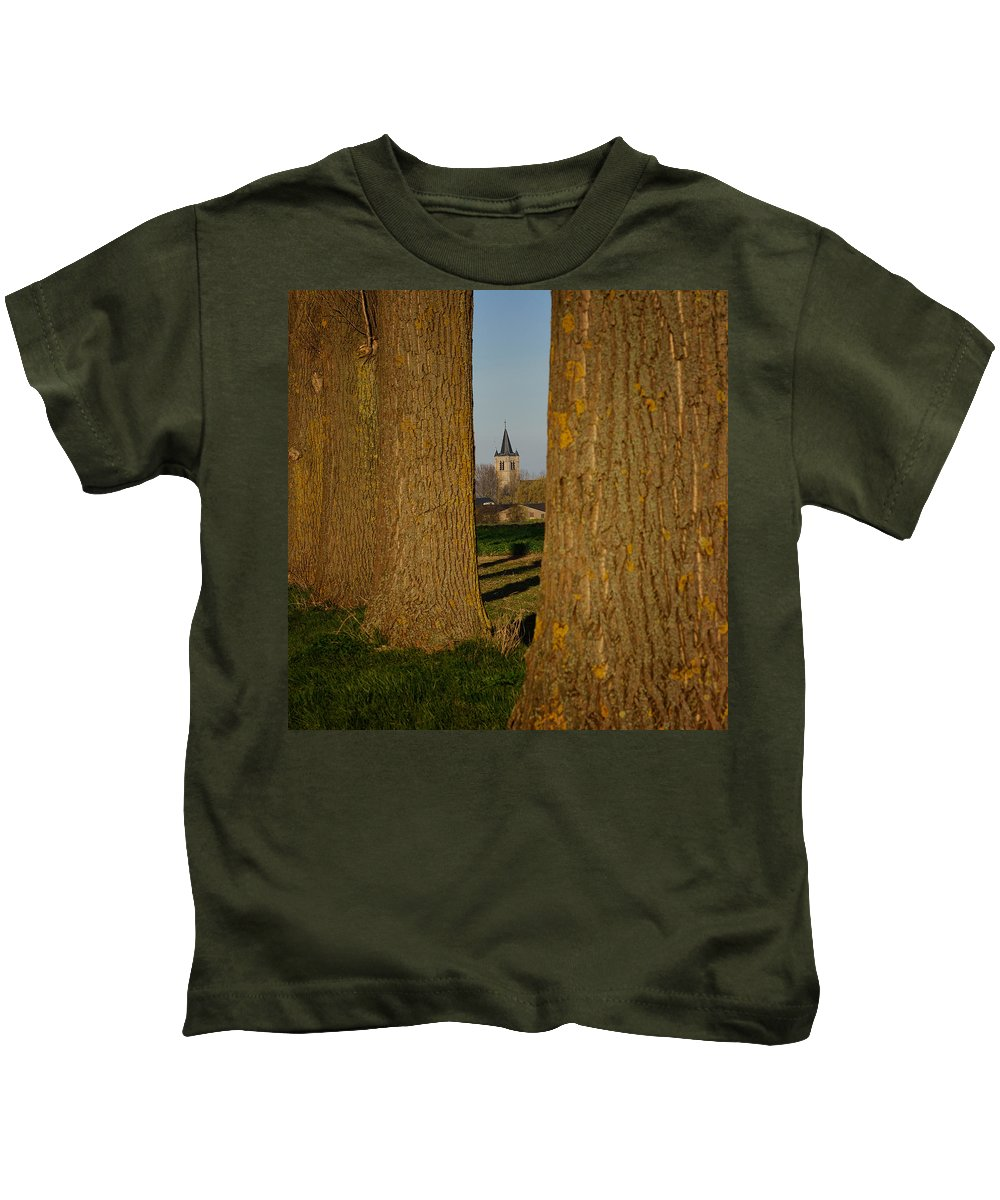 Architecture Kids T-Shirt featuring the photograph A View Of Pottes by TouTouke A Y