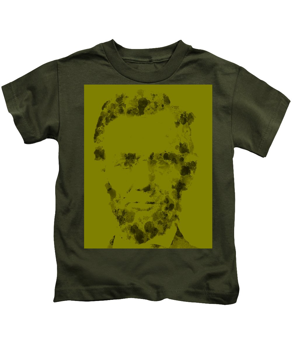 Abraham Lincoln Kids T-Shirt featuring the digital art Abraham Lincoln 4 by Brian Reaves