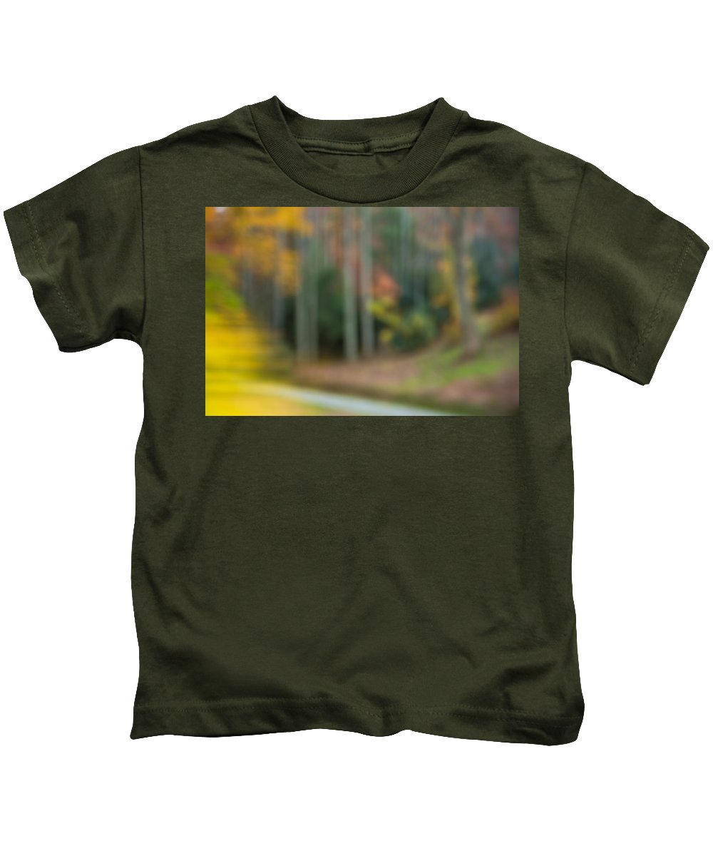 Autumn Kids T-Shirt featuring the photograph Abstract Fall 2 by Joye Ardyn Durham