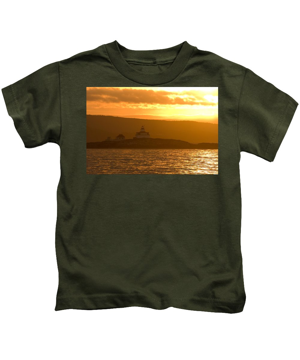 Acadia National Park Kids T-Shirt featuring the photograph Acadia Lighthouse by Sebastian Musial