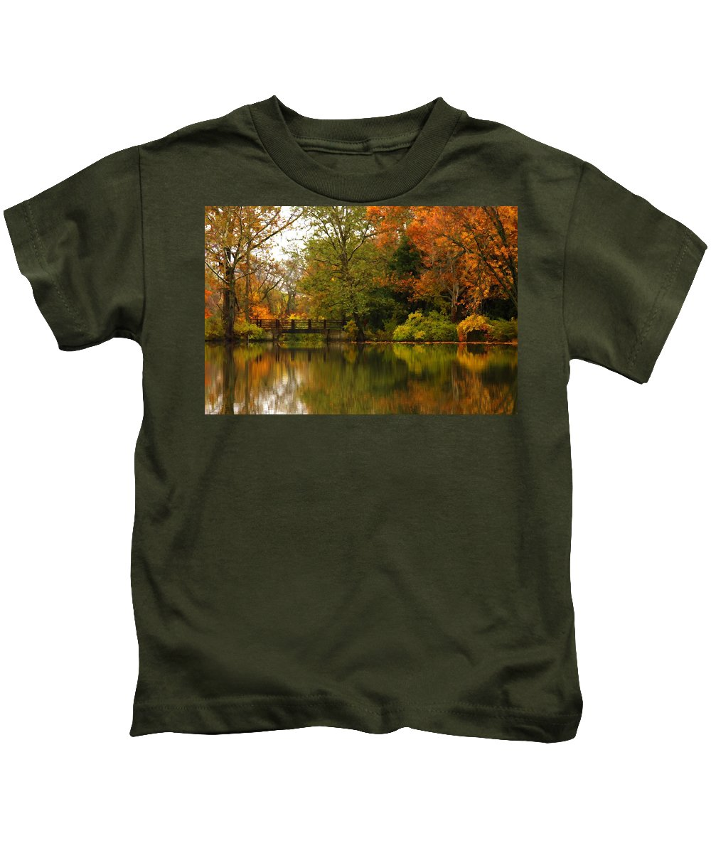 Lake Kids T-Shirt featuring the photograph Across The Lake by Lyle Hatch