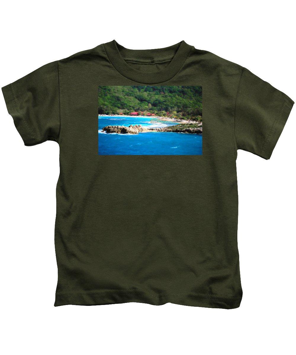 Island Kids T-Shirt featuring the photograph Adrenaline Beach - Cezanne II by Shelley Neff
