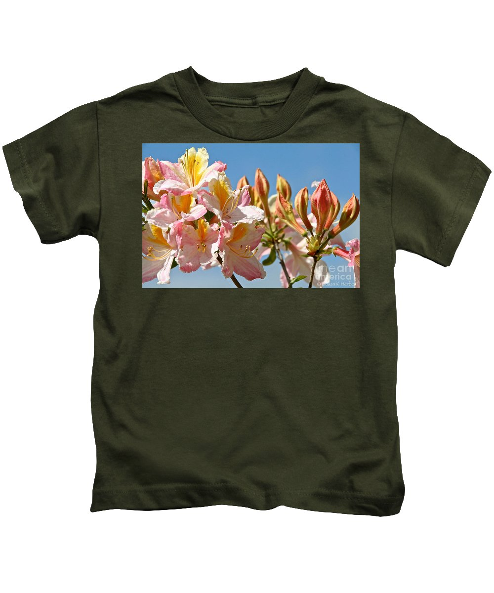 Flower Kids T-Shirt featuring the photograph All Stages Of Bloom by Susan Herber