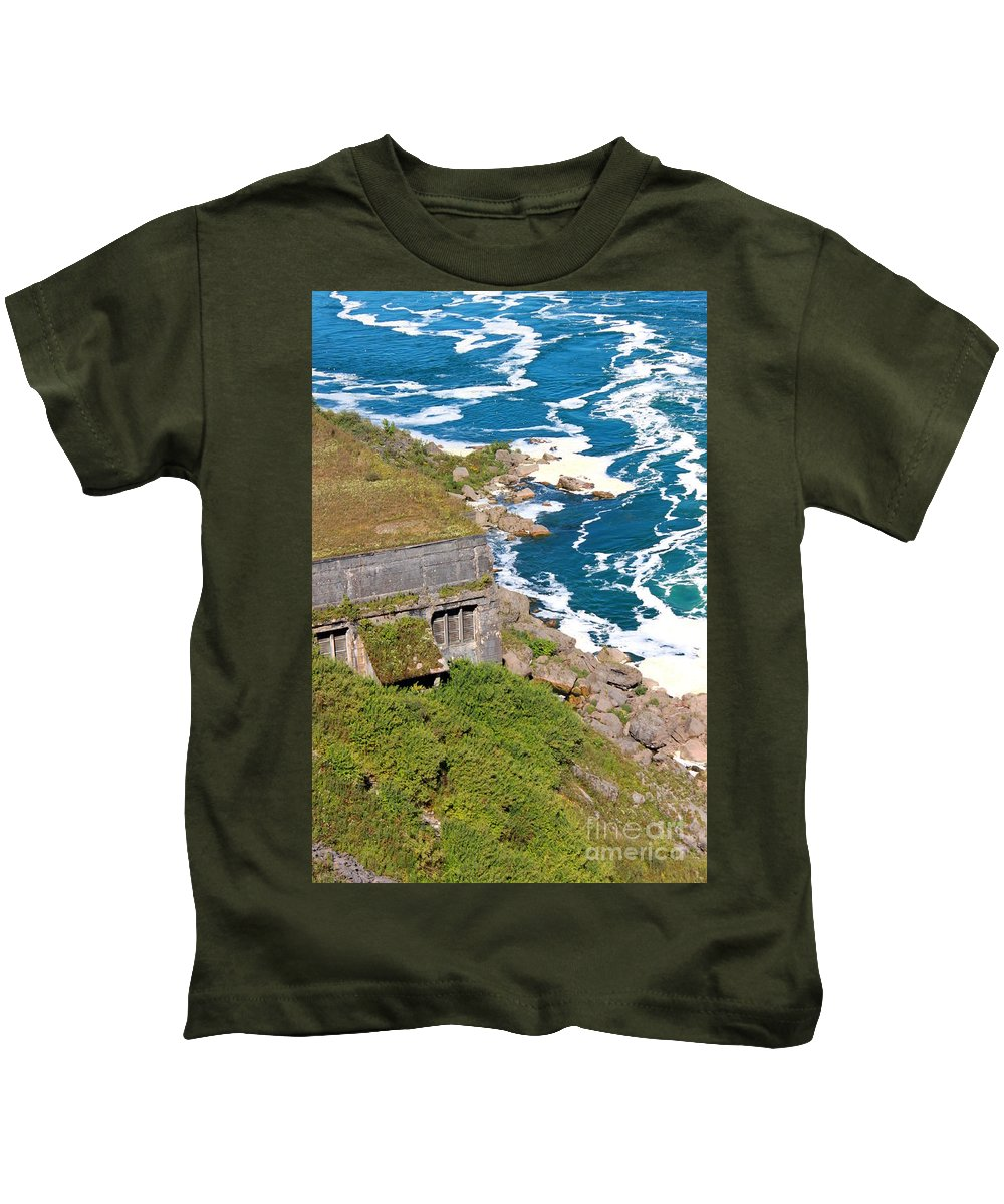 Hydroelectric Generating Station Kids T-Shirt featuring the photograph An Old Hydroelectric Generating Station by Jennifer E Doll