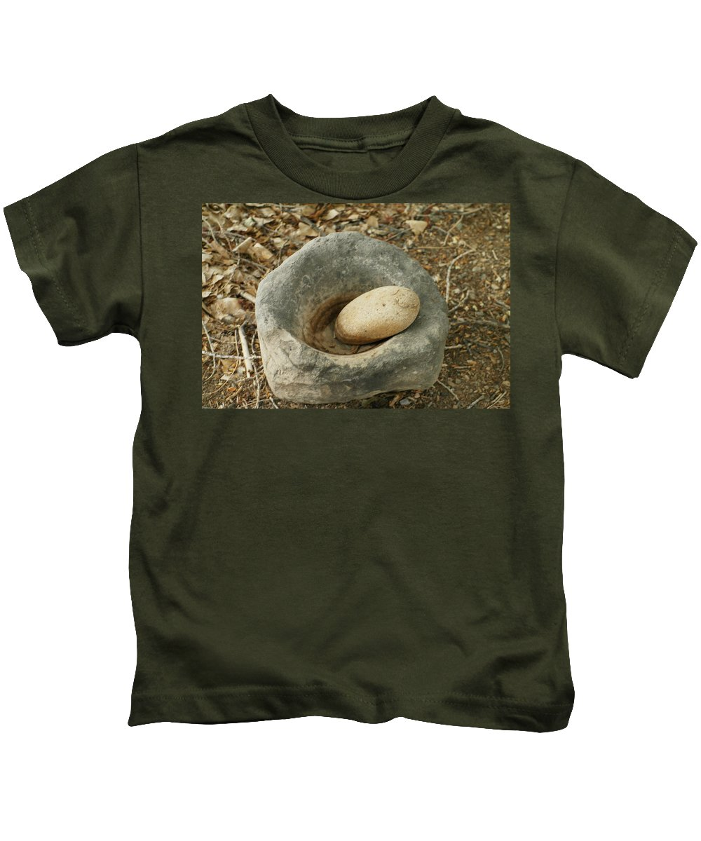 Bowls Kids T-Shirt featuring the photograph Anasazi Grinding Bowl by Jeff Swan