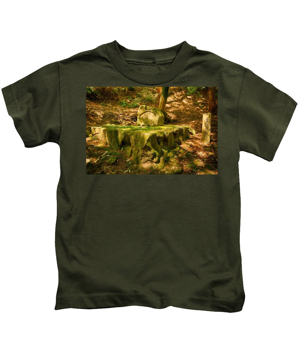 Moss Kids T-Shirt featuring the photograph Ancient by Jonah Anderson
