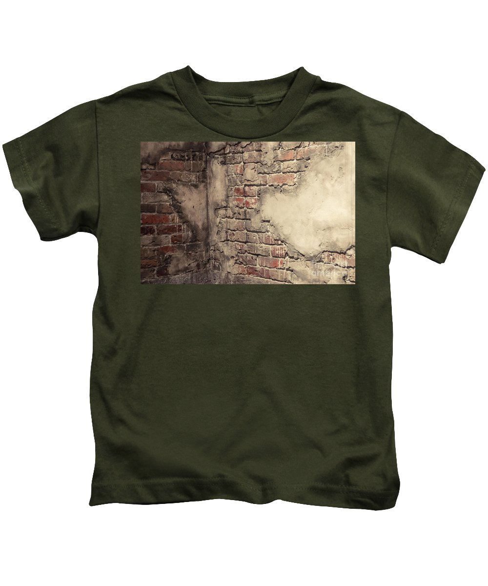 Brick Kids T-Shirt featuring the photograph Another Brick In The Wall by Bianca Nadeau