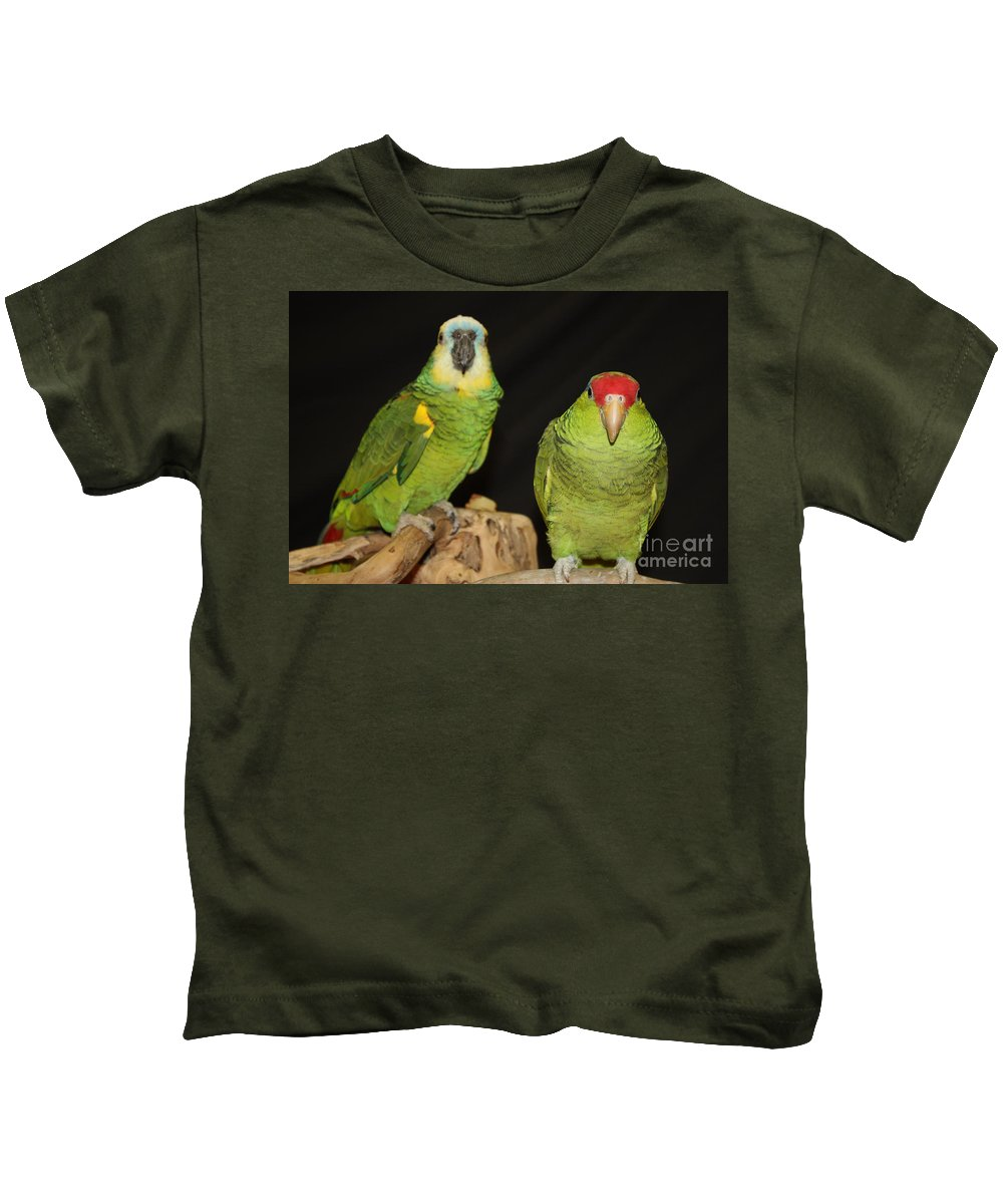 Are You Looking At Us Kids T-Shirt featuring the photograph Are You Looking At Us by John Telfer