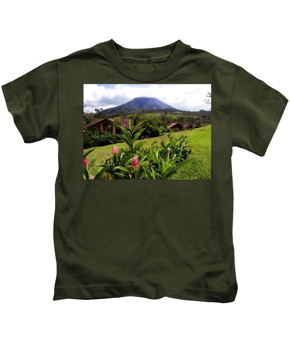 Tropical Kids T-Shirt featuring the photograph Arenal Costa Rica by Kurt Van Wagner