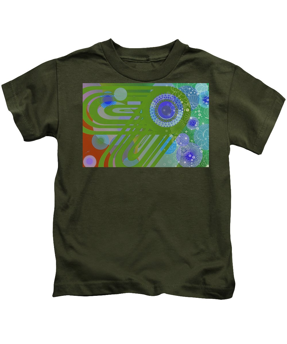 Wright Kids T-Shirt featuring the digital art Art Deco Explosion 2 by Paulette B Wright