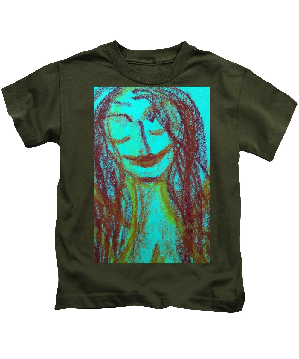 Woman Kids T-Shirt featuring the photograph Art Therapy 167 by Michele Monk
