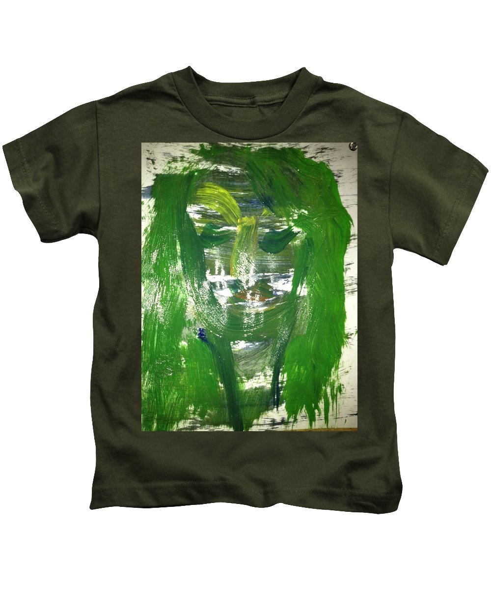 Green Kids T-Shirt featuring the photograph Art Therapy 173 by Michele Monk