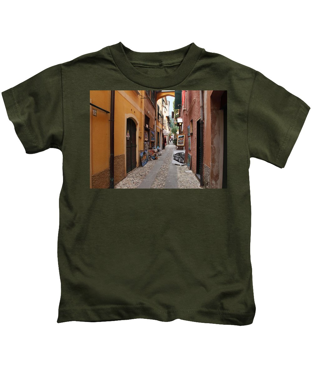 Italy Kids T-Shirt featuring the photograph Artisan Alley Portofino Italy by Susan Rovira