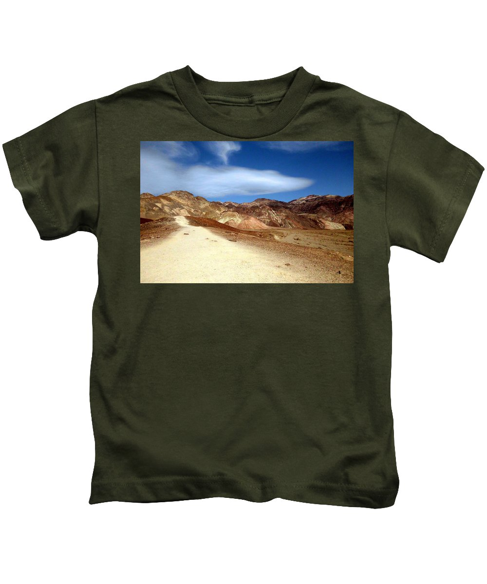 Death Valley Kids T-Shirt featuring the photograph Artist Pallet Death Valley by Sheryl Chapman Photography