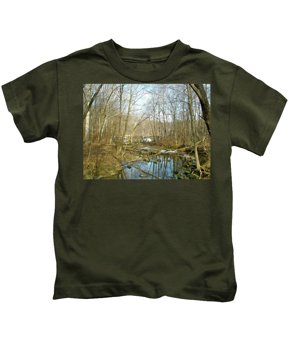 Landscape Kids T-Shirt featuring the photograph As Spring Begins by Mother Nature