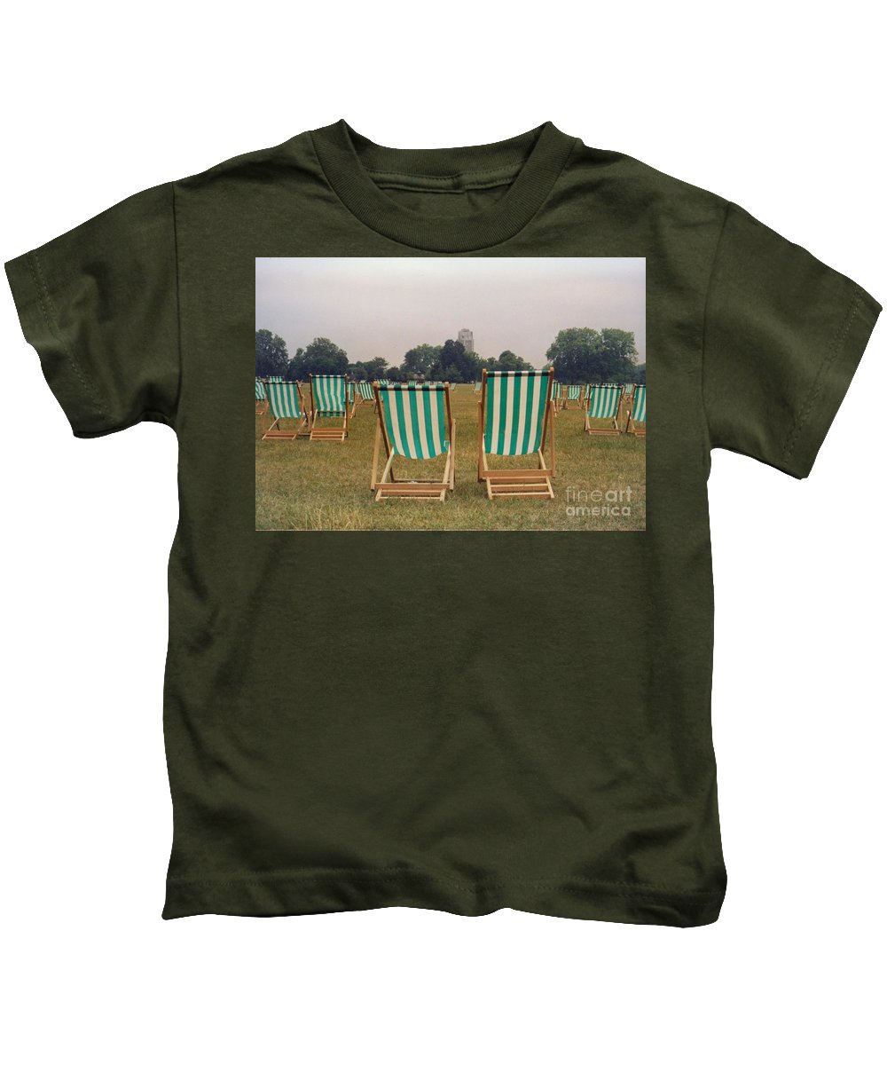 Hyde Park Kids T-Shirt featuring the photograph Assemblage by Christine Jepsen