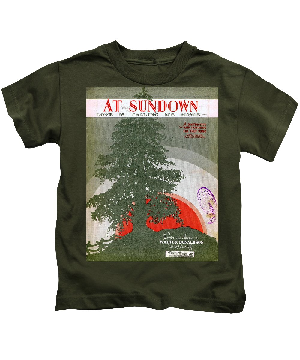 Nostalgia Kids T-Shirt featuring the photograph At Sundown by Mel Thompson