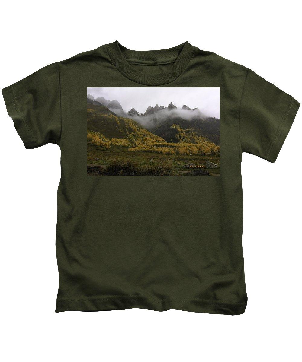 Landscape Kids T-Shirt featuring the photograph Autumn Mist by Bill Sherrell