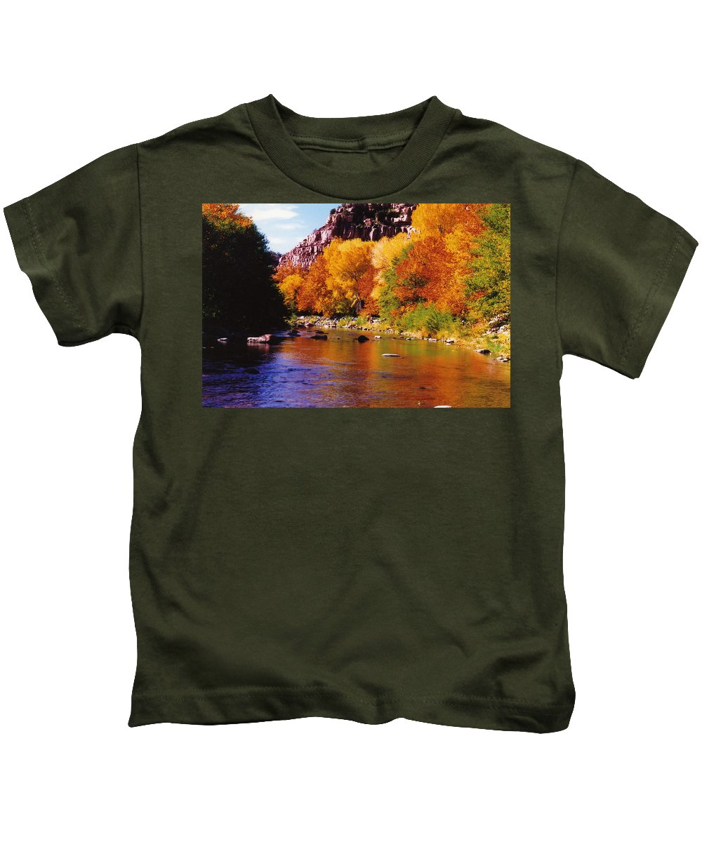 Arizona Kids T-Shirt featuring the photograph Autumn Oak Creek by Bob Bradshaw