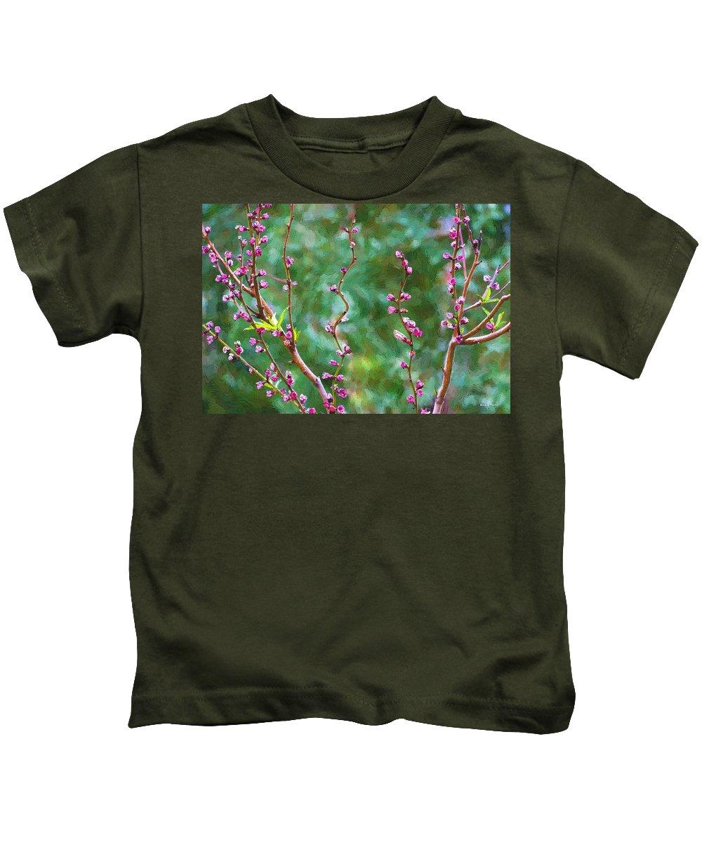 Tree Kids T-Shirt featuring the painting Awakening by Angela Stanton