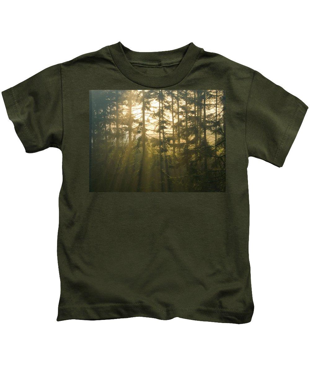 Light Kids T-Shirt featuring the photograph Awe by Daniel Csoka
