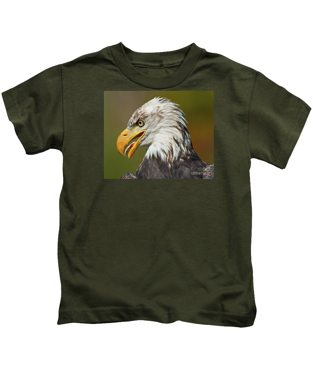 Nina Stavlund Kids T-Shirt featuring the photograph Bald Eagle... by Nina Stavlund