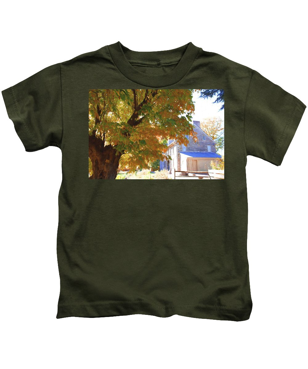 Bartrams Garden Kids T-Shirt featuring the photograph Bartram Orange by Alice Gipson