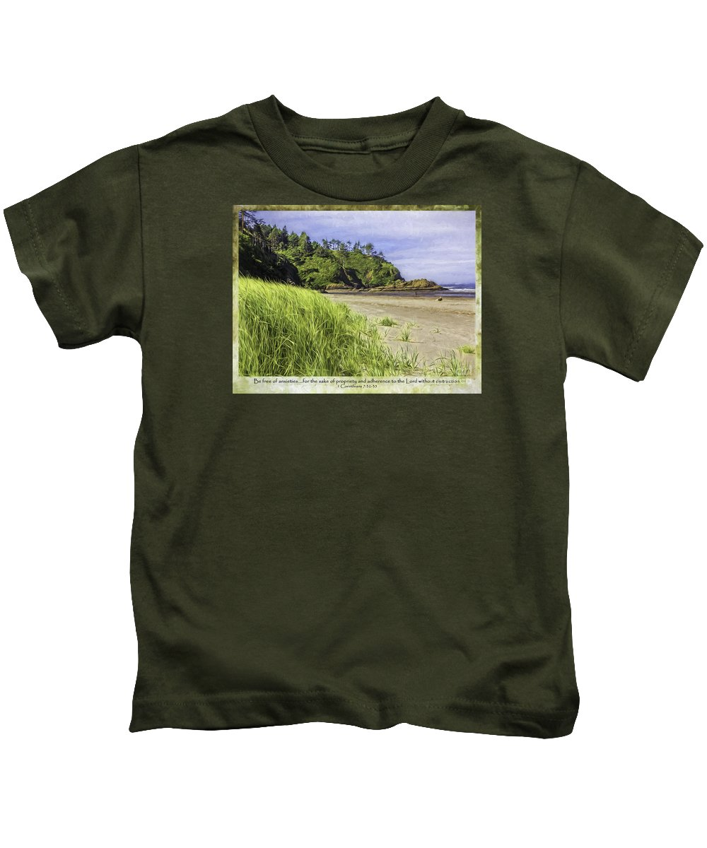Bible Kids T-Shirt featuring the photograph Be Free by Jean OKeeffe Macro Abundance Art