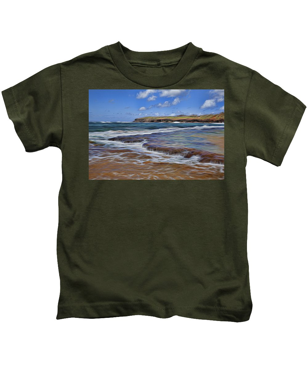 Kauai Kids T-Shirt featuring the photograph Beach Colors by Kelley King